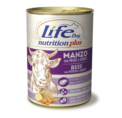 Lifedog beef chunks with potatoes and carrots NUTRITION PLUS 400G