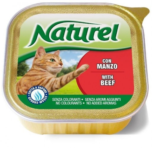 Naturel Beef NATUREL ALUTRAYS for CATS 100G