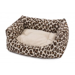 DOG BED RODI  LEO WITH REMOVABLE CUSHION 60 X 70 CM