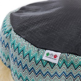 DOG BED CHAPEAU ROUND BED WHIT REMOVABLE CUSHION 50 CM