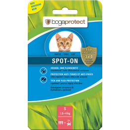 Bogaprotect Spot-On gatto S 3 x 0.7 ml