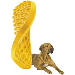 pet+me Brush, short hair dog, yellow