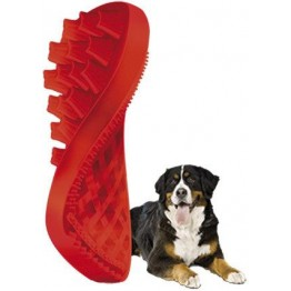 pet+me Brush long hairs dog, red
