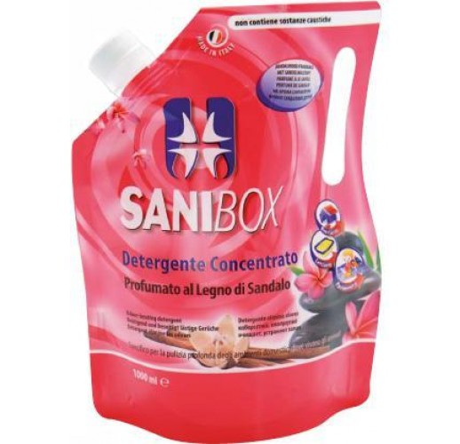 Sanibox detergente concentrato - Sandalwood 1000ml