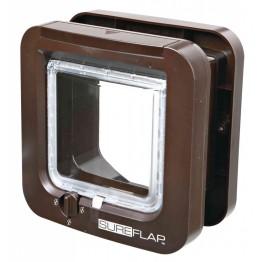 Porta per gatto SureFlap a 4 funzioni, con rilevatore microchip, marrone