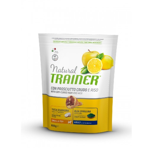 TRAINER NATURAL SMALL AND TOY AD DRY-C. HAM AND RICE 0,8 KG