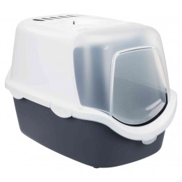 Cat litter tray  Vico Open Top, Vico Open Top, with hood, blue-grey/white 40×40×56cm