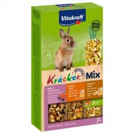 Kräcker® Mix + frutti di bosco/miele/popcorn per conigli nani 3Stk.