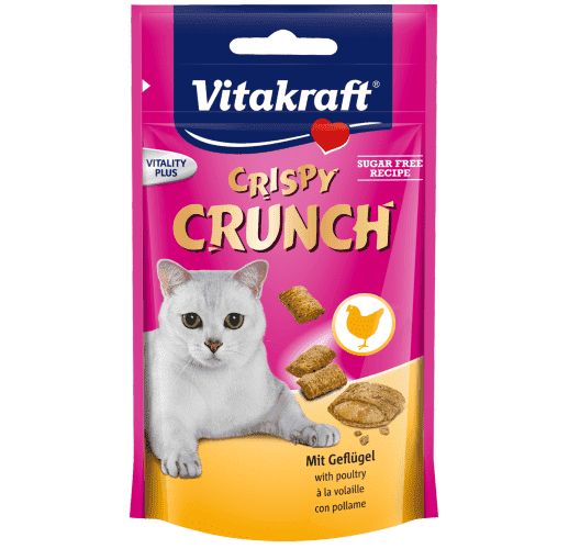 Crispy Crunch + Geflügelfüllung Katze 60g