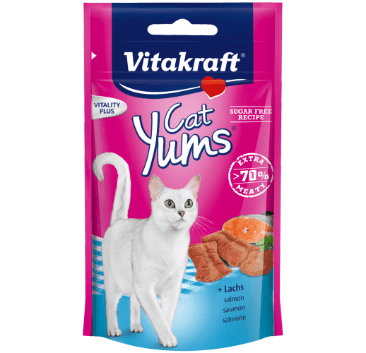 Cat Yums® + salmone & oméga 3 - 40gr.