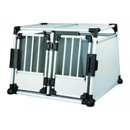 CAR BOX Double cage de transport, aluminium, 95x69x88cm