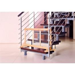 Hundeabsperrgitter, Birke, 63-108x50x31cm