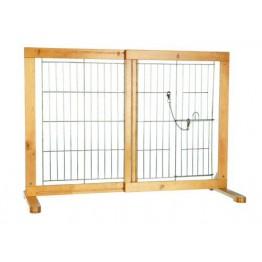 Hunde-Absperrgitter, Birke, 61-103x75x40cm