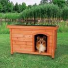 Cuccia per cani natura Classic, con tetto apribile 85x58x60cm