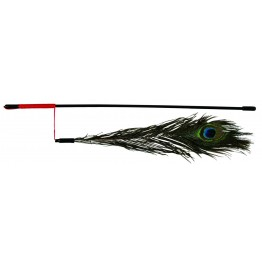 Canna da pesca con corda e piuma 47cm