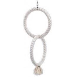 2 anelli altalena in cotone 24 x 50 cm