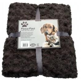 Fleece Plaid Super Soft brun, 60 x 85 cm
