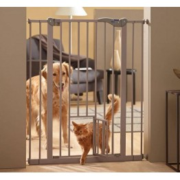 Dog Barrier + Little Door, 75/84 xH107cm